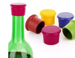 Wholesale Silicone Bottle Stoppers Wine - 3.5*2.8*3.1CM Silicone Wine Stopper Candy-colored food-grade silicone fresh beer bottle cap wine stopper cork