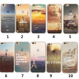 Wholesale Iphone Clear Case Colours - For Iphone 6s 7 3D New Fashion Colour Drawing Half Clear Soft TPU Case Back Cover For Iphone 6 7 plus 5S SE Ultra Thin Rubber Silicone Case