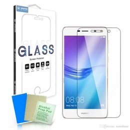 Wholesale Nova Pro - 2.5D Tempered Glass Screen Protector for Huawei Y7 Y5 Y3 2017 honor 8 PRO 9 Nova 2 G9 PLUS Explosion proof Protective Film Guard retail box