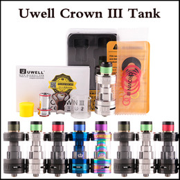 Wholesale Large Capacity Atomizer Tanks - Top quality Uwell Crown 3 Tank with 5.0ml e-Juice Capacity Top Filloing Airflow Control Sub ohm Tank Large Clouds Crown III atomizer
