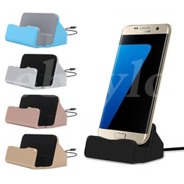 Wholesale Dock Iphone Retail - Universal Quick Charger Docking Stand Station Chargers Cradle Charging Sync Dock Type C For Samsung S6 S7 Edge Note 5 With Retail Box