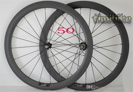 Wholesale Carbon Wheels Bike 88 - Carbon Knife Highway Wheel Group 50mm Carbon Fiber Open Highway Bicycle 700C Tube Tire Fat Ring 24 | 38 | 60 | 88