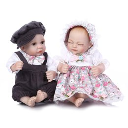 Wholesale Cute Small Newborn Babies - Cute model premie newborn small 12inch 25CM soft silicone vinyl real soft gentle touch reborn baby doll