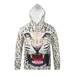 Wholesale Leopard Men Hoodie - Vintage Leopard Printed Hoodies Fashion Pattern Male Hoodie Sweatshirt Man Hooded Pullover For Boys Winter Coat SX-167