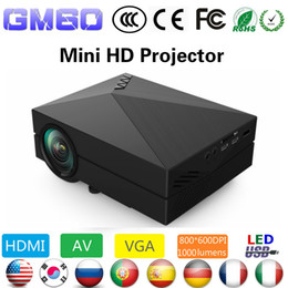 Wholesale Portuguese Education - Wholesale-Newest Upgrade GM60 Mini LED Home Theater Projector HD Video Projector Beamer 1080p 1920x1080 Korean Russian Portuguese Spanish
