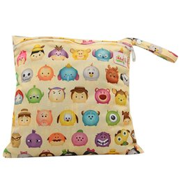 Wholesale Reusable Storage Bags - New Protable Nappy Reusable Washable Wet Dry Cloth One Zipper Pocket Waterproof Diaper Storage Bag 10 Colors