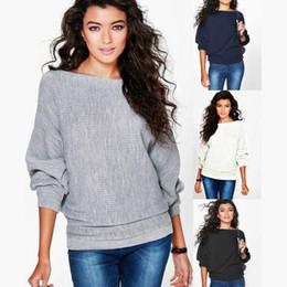 Wholesale Bamboo Batting - new Autumn winter fashion loose bat sleeves thread T-shirt long-sleeved sweater Leisure cotton Tops coat Sweatshirts Long Tank Women Clothes
