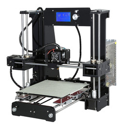 Wholesale Printing Coding Machine - Freeshipping Easy Assemble Anet A6&A8 3d Printer Big Size High Precision Reprap Prusa i3 DIY 3D Printing Machine+ Hotbed+Filament+SD Card+LC