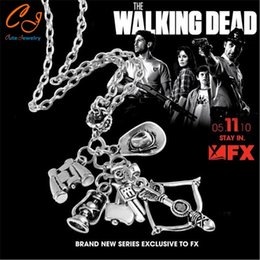 Wholesale Chain Speed - The Popular TV drama The walking dead necklace Speed sell through selling 6-in-1 creative necklace Wholesale Freeshipping