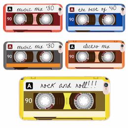 Wholesale Iphone Cases Cassette Tape - Colorful Tape Cassette Retro Fashion Phone Case for iPhone 6 6Plus 6s 6 7 7Plus 5 5s SE 5c 4 4s Samsung