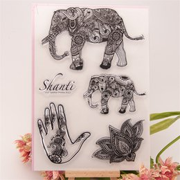 """Wholesale Elephant Stamp - Wholesale- New arrival """" Big Elephant """"Silicone Transparent Clear Stamp Seal for DIY scrapbooking photo album stamp craft EE-060"""