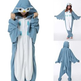 Wholesale Cheap Unisex Jumpsuit - Cheap Owl Animal Costume Kigurumi Pajamas Cosplay Halloween Suits Adult Romper Cartoon Jumpsuits Unisex Animal Sleepwear