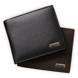 Wholesale Interior Products - Wholesale- 100% genuine leather mens wallet premium product real cowhide wallets for man short black walet portefeuille homme