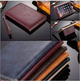Wholesale Folding Book Holder - For ipad Pro 10.5 Luxury Ultra Thin Business Book Leather Smart Stand Hand holder Case Cover for New ipad 4 air air2