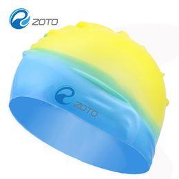 Wholesale Silicone Swimming Goggles - Goggles Fight Color Non Slip Swimming Cap Soft Silicone Adult Bathing Cap Outdoor Swim Supplies Colorful 3 8zc