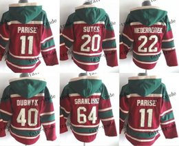 Wholesale Old Cheap - minnesota wild #11 zach parise Cheap Hockey Hooded Stitched Old Time Hoodies Sweatshirt Jerseys