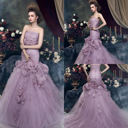 dress porm pink Promo Codes - Best Selling 2019 Trumpet Evening Dress Strapless Flowers Embellished Unique Porm Dresses Custom Made Mermaid Evening Gown