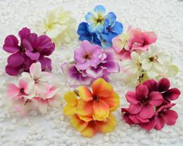 Wholesale Orange Blossom Flower - Wholesale-diy wreath material simulation hydrangea bouquet lovely cherry blossom bridal headdress wedding decoration flower