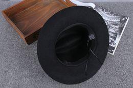 Wholesale Vintage Mans Derby - customizd logo The blues brother hat + sunglasses Unisex Wide Brim Jazz Cap Spring Brand Fedora Hats For Men Vintage Women Black hat