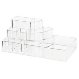 Argentina Al por mayor-Organizador caja de almacenamiento de acrílico caja de presentación cosmética para el almacenamiento de maquillaje transparente cheap wholesale display makeup organizer Suministro