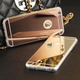 casos da forma para o iphone 4s Desconto Alta qualidade de moda de luxo galvanoplastia espelho tpu limpar phone case capa para iphone 4 4s 5 5s 6 s 6 7 plus case
