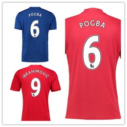Wholesale Athletic Shirts Xxl - Thai Quality Customized man utd 6 pogba Soccer Jerseys,top football Jerseys Shirts Tops,Cheap discount Popular Athletic Outdoor Soccer Wear