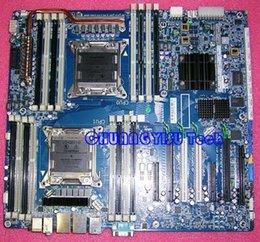 Express hp en Ligne-HP Z820 WS carte mère d'origine, 619562-001 618266-001, C602, s2011, REG ECC mémoire, travail parfait