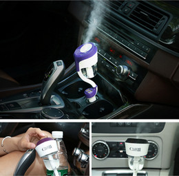 Wholesale Generation With USB Nanum Car Humidifier Air Mist Diffuser Purifier Air Cleaning Mini Charging Portable Water Bottle Steam Humidifiers