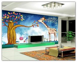 Wholesale Free 3d Animations - 3D photo wallpaper custom size mural non-woven wall Dream cartoon animation TV wall picture home decoration 3D Mural wallpaper Free shipping