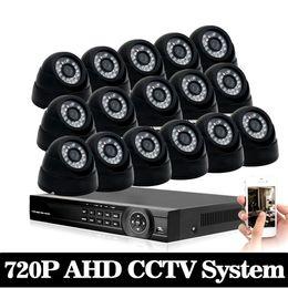 KKmoon 16CH 1080P Hybrid DVR 2TB HDD 16*720P AHD Indoor Dome Camera CCTV System
