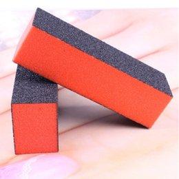 Wholesale Na Polish - Wholesale- Fashion Nail Polishing Tool Color Black Brick Shaped Manicure Buffing Sand Sponge NA-0228