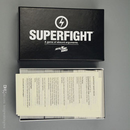 Wholesale Toys Gift Card Wholesaler - 2017 Newest Superfight super card game 500 Cards Core Deck Superfight Basic Edtion A Game of Absurd Arguments Chrismas gift