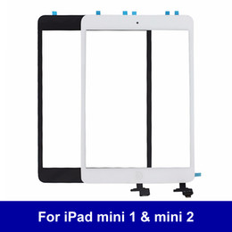 Wholesale Ipad Mini Lcd Digitizer - Genuine LCD Display Touch Screen Glass Panel For iPad mini 1 iPad mini 2 With IC Home Button Touch Screen Digitizer 100% Tested
