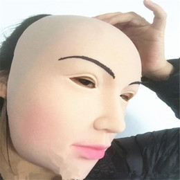 Wholesale Realistic Male Toys - Female mask latex silicone Ex Machina realistic human skin masks Halloween dance masquerade cosplay Crossdress Male Mask Lady toys