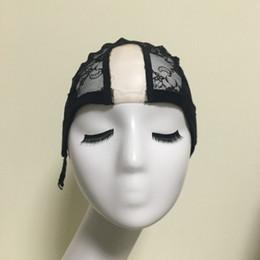 Wholesale Wholesale U Part Wig Caps - U Part Glueless Lace Wig Cap For Making Wigs With Adjustable Straps Weaving Caps For Women Hair Net & Hairnets Easycap 10pcs lot