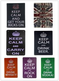 "Wholesale Tin Signs Free Shipping - Free Shipping Metal Tin Sign JUST ""KEEP CALM"" Retro vintage Classic Tin Bar pub home Wall Decor Retro Tin Poster 8*12inch 20161005#"