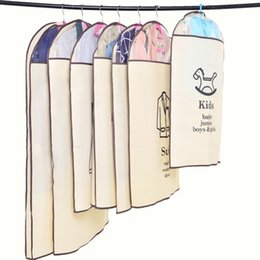 Wholesale Plastic Travel Bags Clothing - Thicken Cloth Dust Guard Kids Loose Coat Dirt Shroud Transparent Clothing Dustproof Bag Travel Protector Storage Bags Comprehensive 3 3by HR
