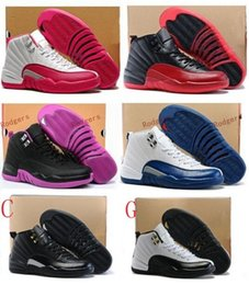 Wholesale Volleyball Games - Women Retro 12 GS Hyper Violet Youth Pink Valentines Day 12s Plum Fog Flu Game Basketball Shoes Girls Master Taxi Sneakers High Quality