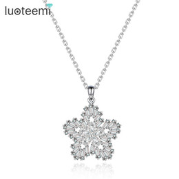 Shop pave diamond pendants uk pave diamond pendants free delivery luoteemi luxury rhodium plating pure white stone micro pave cz snowflake pendant female fashion diamond necklace for women aloadofball Image collections