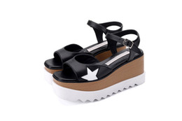 Wholesale High Heel Platform Sneakers - Stella Mccartney Elyse Sandals Wedge Star Platform Sandals Fashion New Shoes Casual Summer Sneakers Flats Heels Lady Open Toe Sandalias