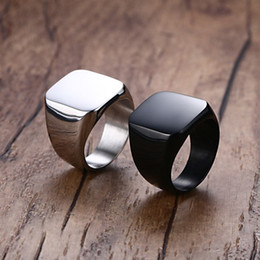 Wholesale Great Wedding Colors - hot selling 316l stainless steel jewelry 3 colors simple plain anti rust retro titanium steel fashion designer mens rings