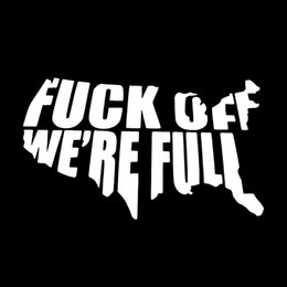 Wholesale F Windows - Hot Sale Cool Graphics F*ck Off We're Full Usa Decal Funny Car Stying Creative Stickers Car Accessories Jdm