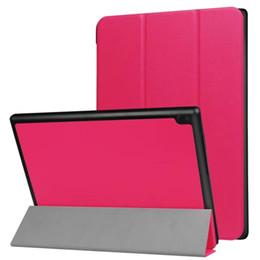 Вкладки lenovo онлайн-Ультра тонкий PU кожаный чехол Чехол для Lenovo TAB 4 10 ТБ-X304F ТБ-X304N ТБ-X304 10,1-дюймовый планшет + стилус