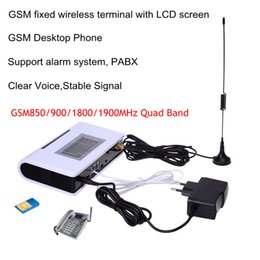 Wholesale Quad Band GSM Fixed wireless terminal MHZ support alarm system PABX clear voice stable signal
