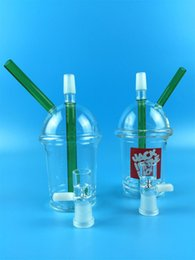 Wholesale Starbucks Cup Price - Cheap price Starbucks cup sandblasted glass bong water pipes hookah concentrate oil rig glass bong glass adapter Hookah