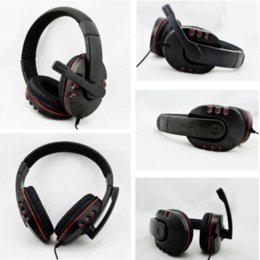 Argentina Hot New Wired 3.5mm Auriculares para auriculares Auriculares Auriculares Micrófono de música para PS4 PlayStation 4 Juego PC Chat fone de ouvido cheap new chat Suministro