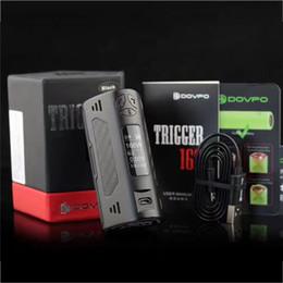 Wholesale Anodized Batteries - Original Dovpo Trigger 168W Box Mod 2x 18650 Battery Zinc Alloy Anodized Matte Black 168W Mod 100% Genuine 2203030