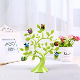 Wholesale Ladybug Stickers - Creative Lucky Tree Ladybug Fridge Magnets Photo Clip Notes Reminder Folder Microwave Refrigerator Multipurpose Display