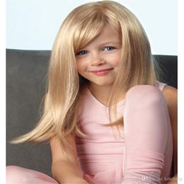 parrucche di merletto di struttura viziosa Sconti Parrucca piena del merletto Parrucca del bambino AliBlissWig Yaki diritto Glueless per colore 16 # Blonde Women Natural 140% Density Brasiliano Remy capelli umani 100%