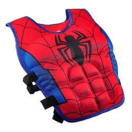 Blousons enfants spiderman en Ligne-Bande Dessinée Enfants Veste Gilet Superman Spiderman Veste De Natation Enfants De Pêche Superhero Accessoires De Piscine Livraison Gratuite